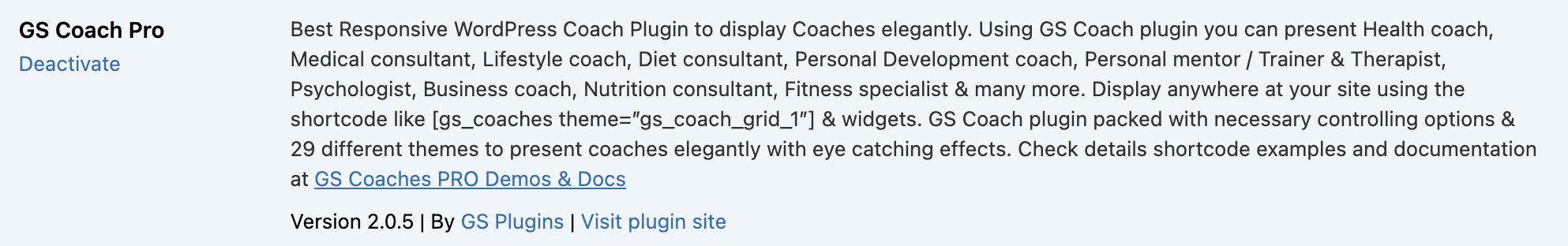 Activate GS Coach