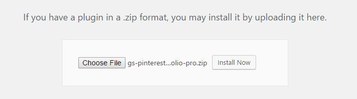 Add GS Pinterest Portfolio