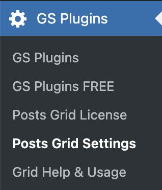 GS Posts Grid Menu