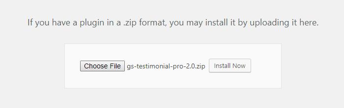 Select File - GS Testimonial