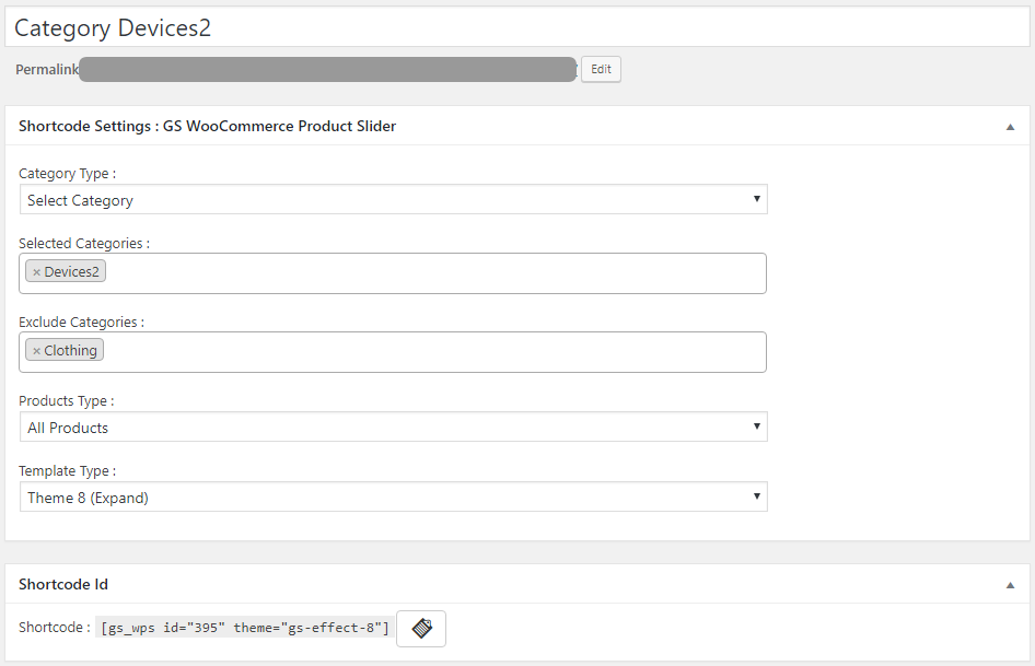 WooCommerce Product Slider Generate Shortcode