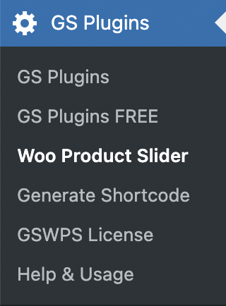 GS WooCommerce Product Slider Menu