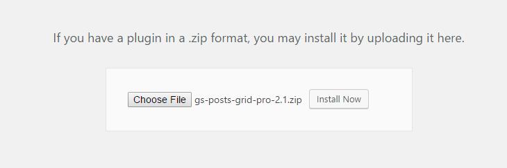 Select GS Posts Grid Plugin