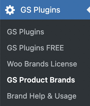 GS WooCommerce Brands Menu